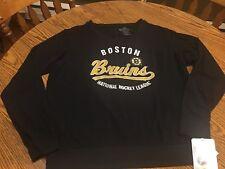 Boston Bruins NHL Women's Soft As A Grape Black Crewneck Sweatshirt, Size Medium