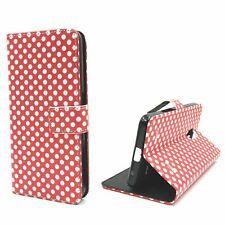 Schutz Hülle für Handy ZTE Blade V7 Lite Polka Dot Rot Tasche Case Wallet Etuis