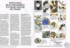 Publicité advertising 1990 (2 pages) Les Montres Patek Philippe