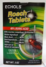 ECHOLS  Roach Tablets 2 OZ  Tablets with Boric Acid ...KILLS ROACHES ,WATERBUGS