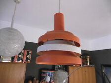 Lampe Leuchte Deckenlampe Hängelampe 70er Jahre Orange Teller Ufo