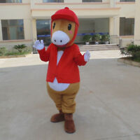 Red Horse Mascot Costume Suits Cosplay Party Game Outfits Adults Halloween Dress