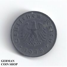 1 Reichspfennig 1945 F Zink - Deutschland unter alliierter Besatzung