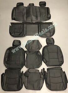 2013 2014 2015 2016 2017 RAM 1500 BLACK LEATHER SEAT REPLACEMENT COVERS UPGRADE