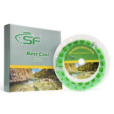 SF 6 wt 100 FT Spring Green Fly Fishing Line Weight Forward Floating Two Loops