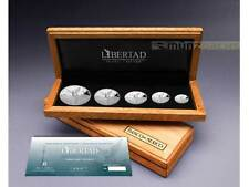 5 Münzen Libertad Silver Proof Set Mexiko Silber PP 2017