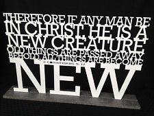 2 Corinthians 5:17 Dimensional Letter Shelf Art - Bible Verse Gift Item