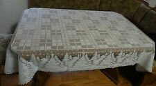 """Heritage Lace """"Ivory"""" Rectangular Polyster Tablecloth Christmas Tree Design(397"""