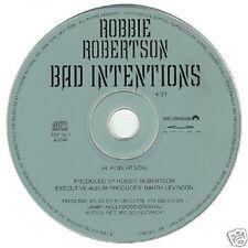 The Band ROBBIE ROBERTSON Bad Intentions PROMO Radio DJ CD Single 1994