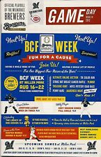 BCF WEEK ON COVER MILWAUKEE BREWERS 2012 OFFICIAL GAMEDAY PROGRAM ISSUE #19