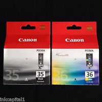 Canon original negro y color Cartuchos de Tinta Para iP100,iP110,pg-35bk,cli-36