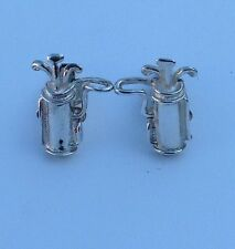 Club Cufflinks Sterling Silver Golf