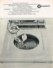 PUBLICITE ADVERTISING 0314   1965   INOXIUM   pour machine à laver FLANDRIA