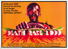 POSTER :MOVIE REPRO:    DEATH RACE 2000 - FREE SHIPPING    RW9 E