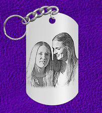 Special Gift for FRIEND, Laser Engraved Photo Keychain, Personalized, Selfie