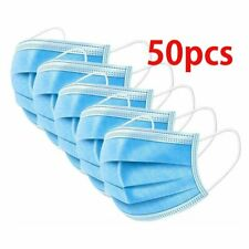 50x Face Mask 50 Pieces Protective Mouth Coverings Mouth Guard Cover Masks UK