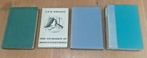 4 Vintage Books on Mountaineering, JEB Wright, S Styles, G Abraham, TAH Peacocke