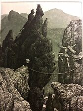 "JULIAN JORDANOV / Bulgaria , Ex Libris, ""Balance"" 2002 , Limited Ed. 5/20"