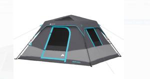 Ozark Trail 6-Person Dark Rest Instant Cabin Pop-Up Tent Outdoor Indoor Portable