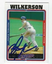 Brad Wilkerson Autographed 2005 Topps Signed Baseball Card #79 Montreal Expos