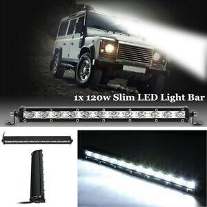 "Waterproof 14"" 120W Super Bright LED Work Light Bar Spot Beam Car Boat SUV 12V"