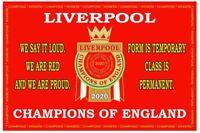 Liverpool Premier League 2020 Champions FLAG..3ft x 2ft. 90cm x 60 cm. FREE P&P