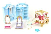 Disney Cinderella Mixed Toys Lot Horse & Carriage Wardrobe Princess Bed Vanity