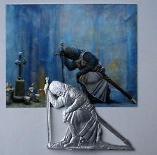 Zinnfigur Flachfigur Kreuritter Templer Das Gebet 90mm Flat Figure