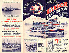 San Diego Harbor Excursion Vintage Brochure Fishing Fleets Naval Vessels 1950's