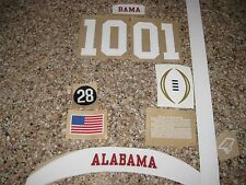 Alabama Crimson Tide  20 mil 3M vinyl full size football helmet decals