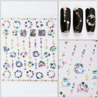 1 Sheet Galaxy Nail Art Transfer Stickers 3D Decals Manicure Decoration Tips