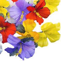 Hawaiian Luau Artificial Hibiscus Flower Petal Graduation Beach Party Decoration
