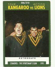 1991 NRL SCANLENS STIMOROL #206 KANGAROOS VS LIONS TOUR ACTION CARD