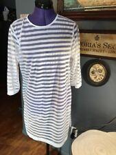 6c8da035a8 Echo SWIMMER Top Dress Size M White STRIPED TRANSFORMER