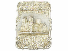 Sterling Silver Card Case - Antique Victorian