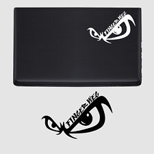 Finger weg Aufkleber Laptop sticker fun Notebook Tattoo Skin