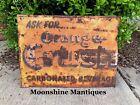 Vintage 1940s ORANGE CRUSH Sign