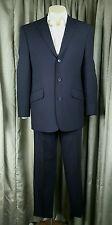 Next Wool Blend Fine Windowpane Grey Check Suit Machine Washable C40S W32S L29.5