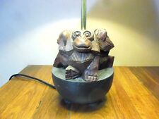 Three Wise Monkey Table Lamp (1 only) Hear, Speak & See no evil - Hand Crafted