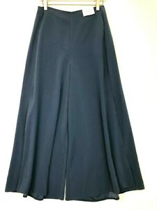 Topshop cropped wide leg culottes blue womens size US 6 UK 10 new nwt