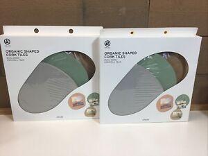 (2) Organic Shaped Cork Tiles