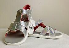 Toddler Girls Sandals See Kai Run Size 11 Silver  Land Water Rose Gold