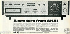 1972 Print Ad of Akai CR-80T 8-Track Cartridge AM/FM Radio Tuner