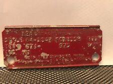 64 1964 CHEVY IMPALA 2 DOOR HARDTOP COWL DATA BODY PLATE TRIM CODE TAG
