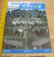 1941 Douglas Air View WWII airplane employee magazine Western Air Express DC-4