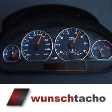 Tachoscheibe für Tacho BMW E46 Benziner *Black*  250Kmh