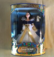 Disney Snow White Barbie Holiday Princess Collector Doll 1998