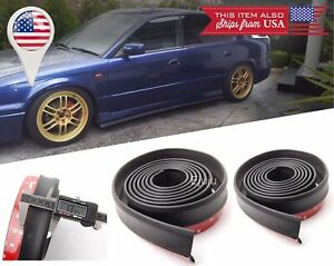 "2 x 100"" Black Splitter EZ Fit Side Skirt Bottom Line Lip Extension for Toyota ."