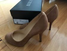 J Crew Mona Pumps Heels in Burnt Sienna Light Brown Suede Size 6.5 M NIB $225