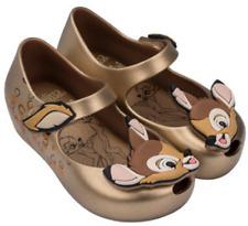 Mini Melissa Ultragirl Bambi girl's Gold shoes - toddler size 12 US NEW